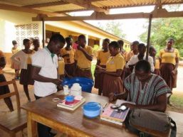 Deworming at schools